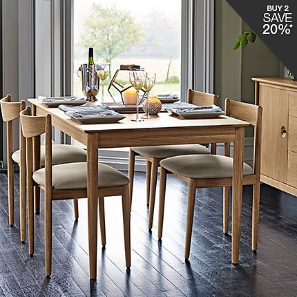 Hampden dining table and chairs