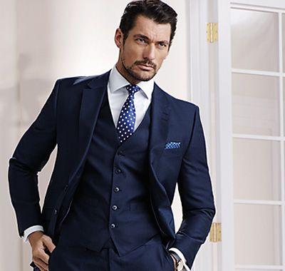 Blue pinstripe suit   Etsy