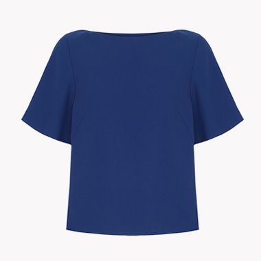Shop Livia Firth blue top