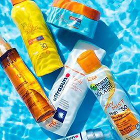 Suncream in a pool