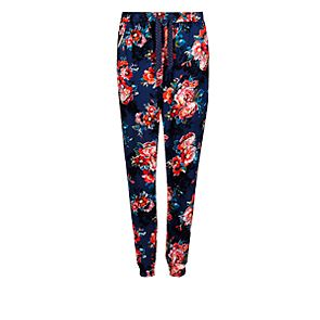 Floral cuffed hem pyjama bottoms