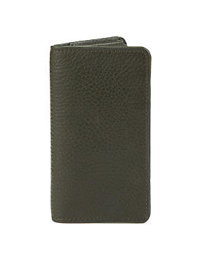 Black Leather Phone & Card Case