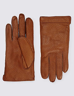 Tan Leather Gloves with Thinsulate™