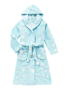 Aqua Mix Anti Bobble Star Print Dressing Gown with Belt (6-16 Years)