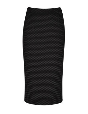 Black Speziale Textured Pencil Skirt