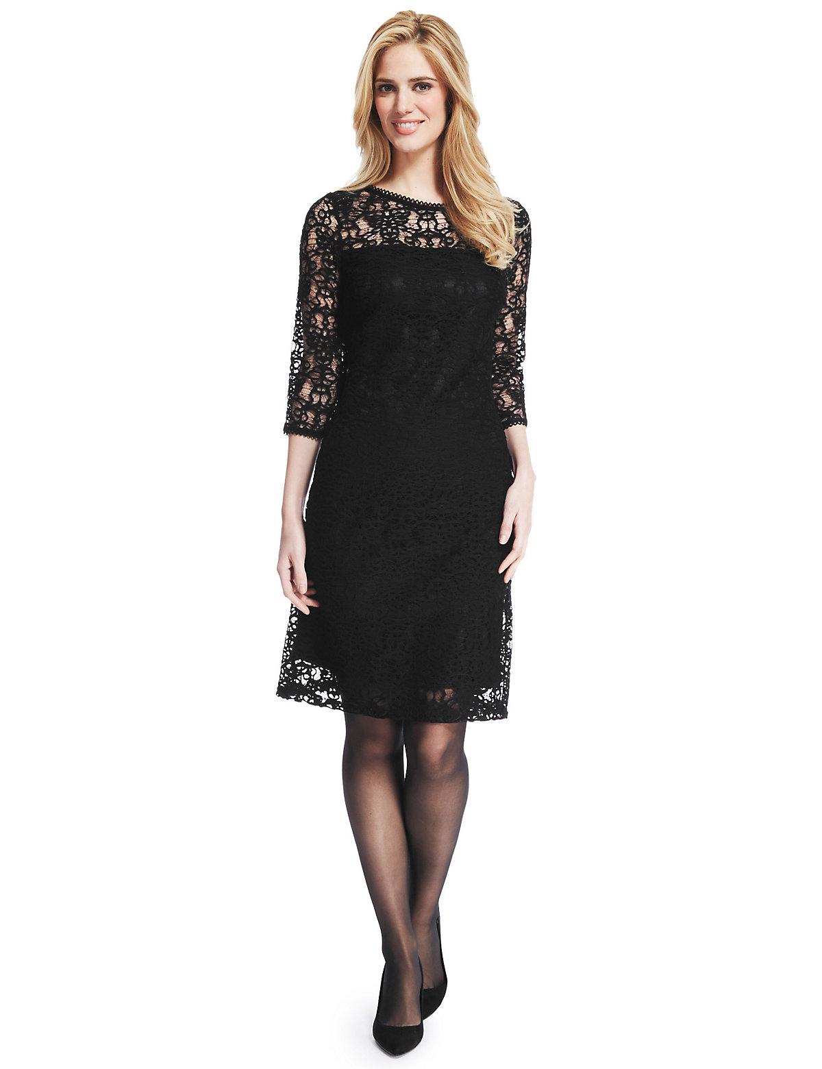 M & S Collection Floral Lace Shift Dress