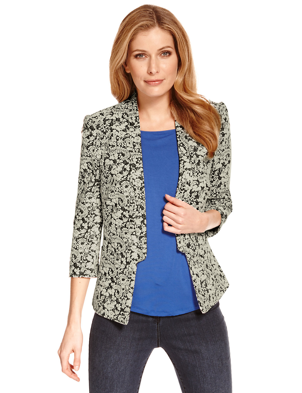 M&S Collection Floral Jacquard Jacket