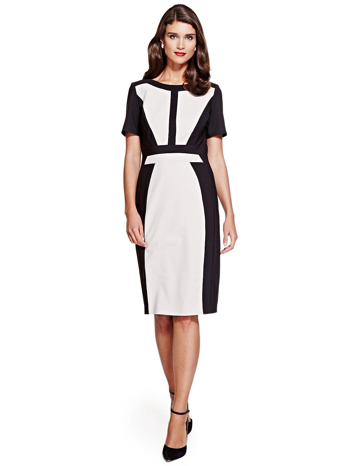 Per Una Speziale Colour Block Panelled Shift Dress