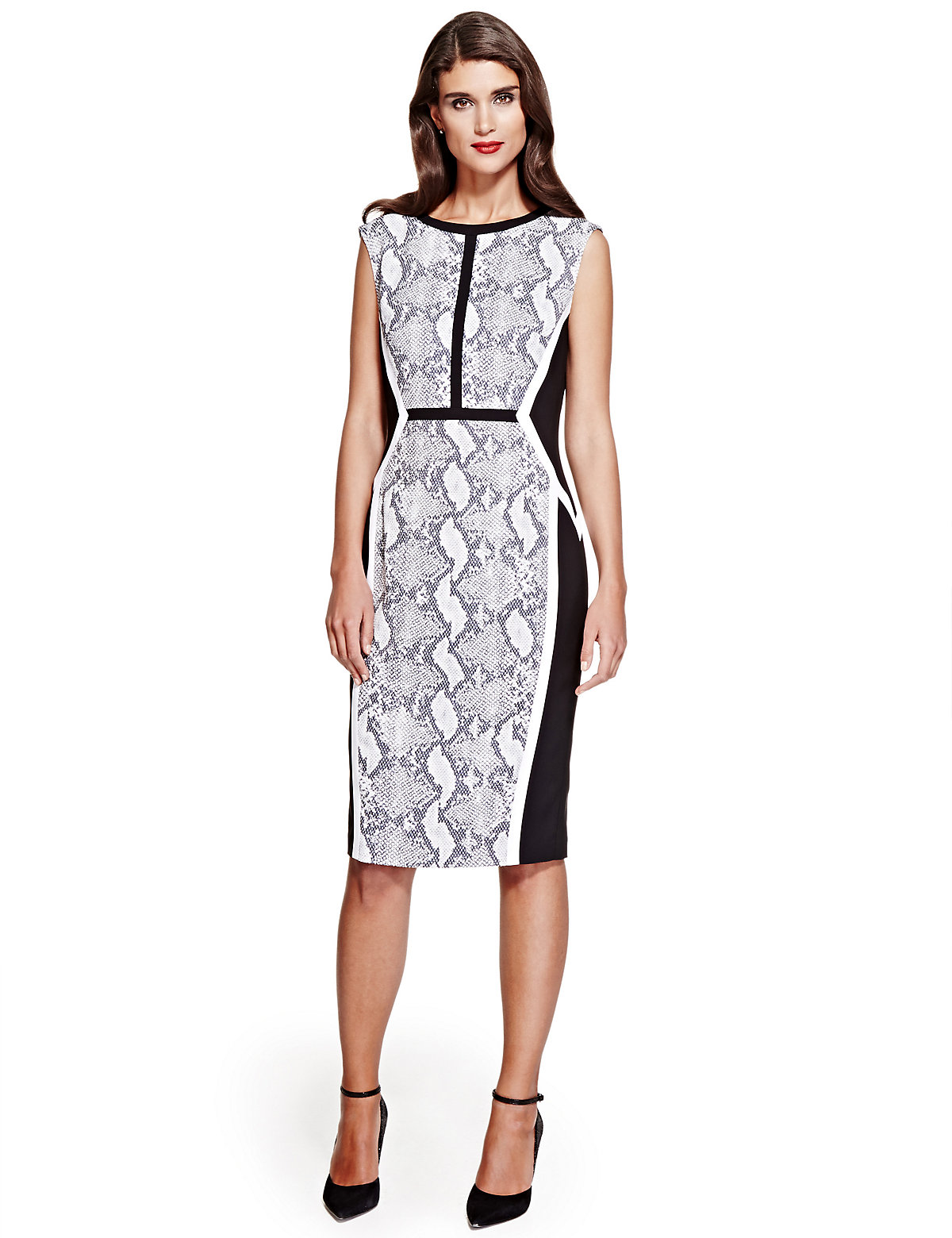 Per Una Speziale Faux Snakeskin Print Jacquard Shift Dress