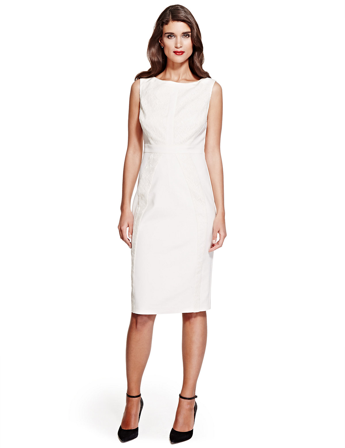 Per Una Speziale Lace Panelled Shift Dress