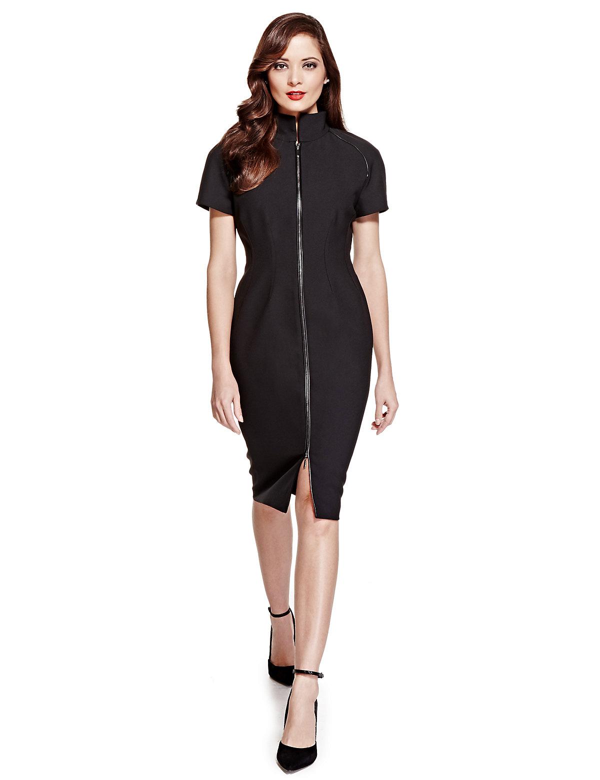 Per Una Speziale Petite Zip Through Shift Dress