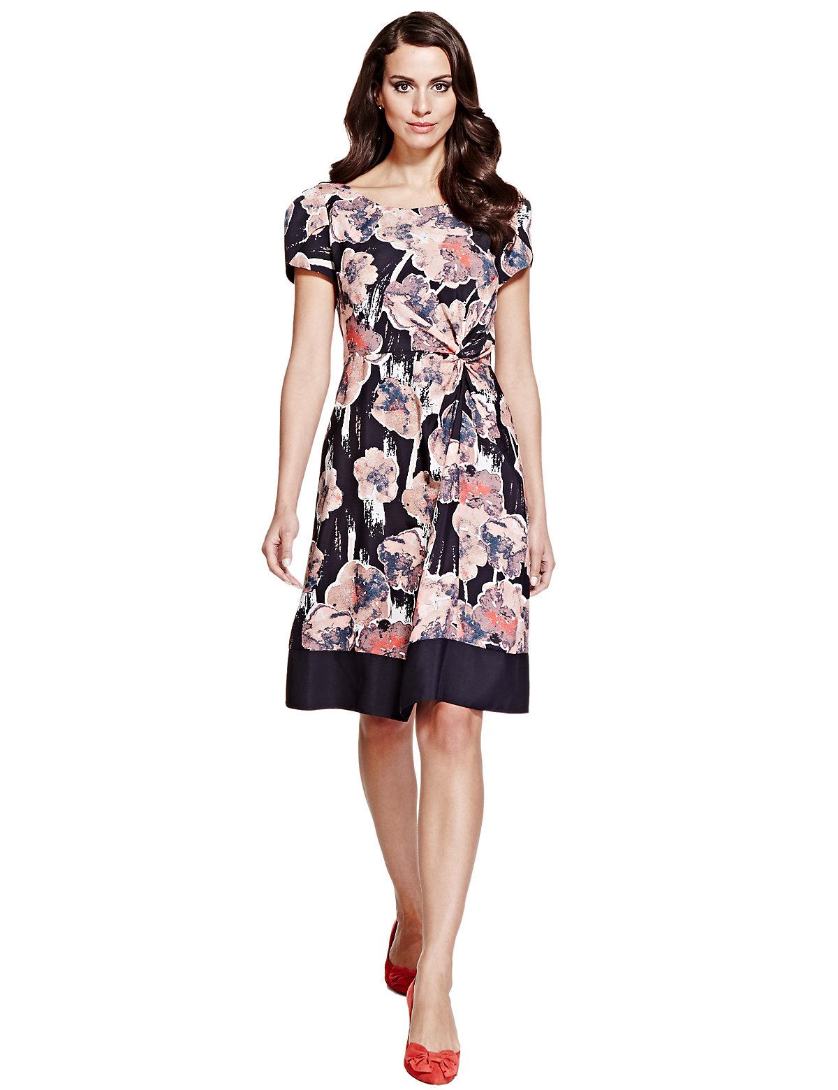 Per Una Twisted Knot Floral Shift Dress