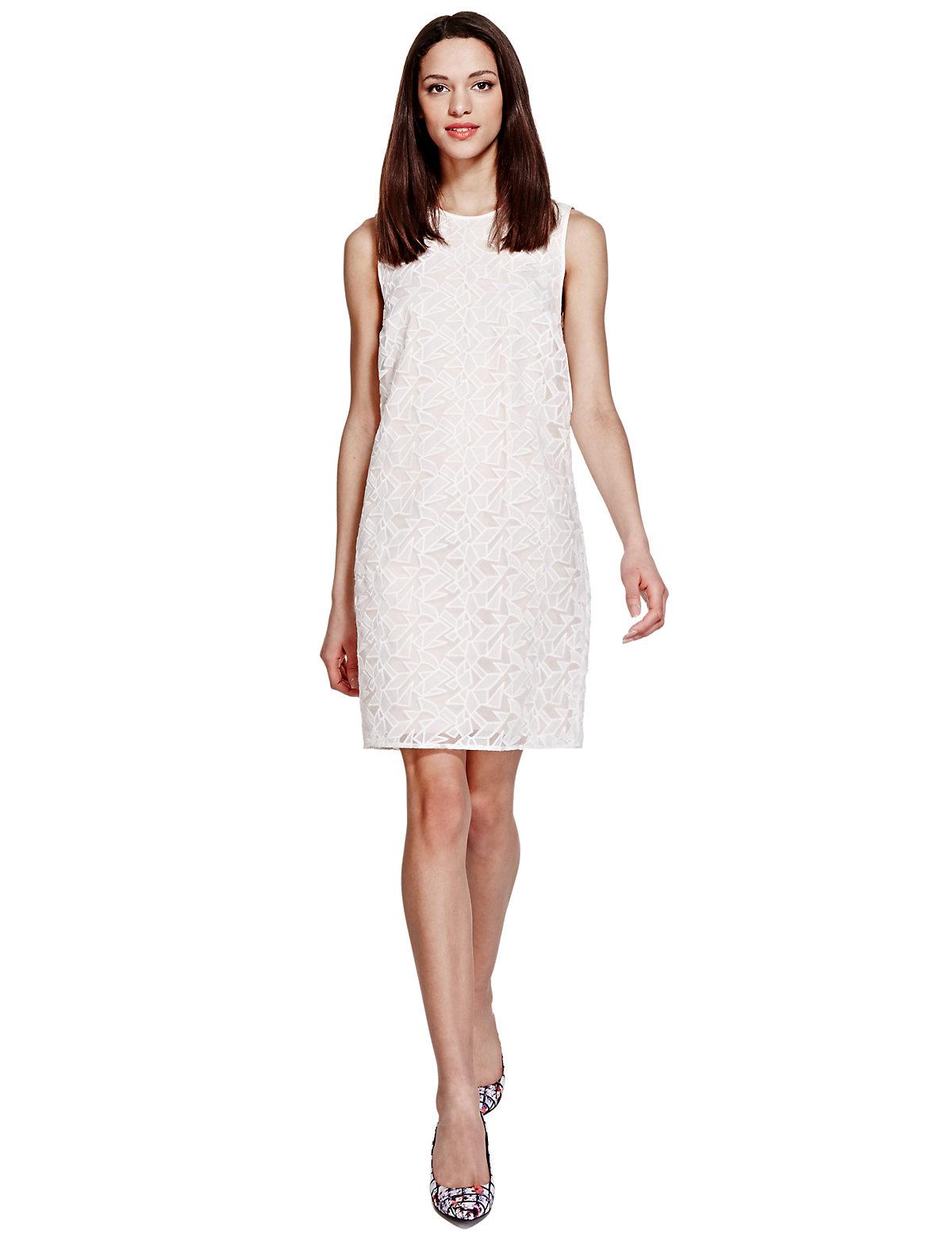 Limited Edition Geometric Print Shift Dress