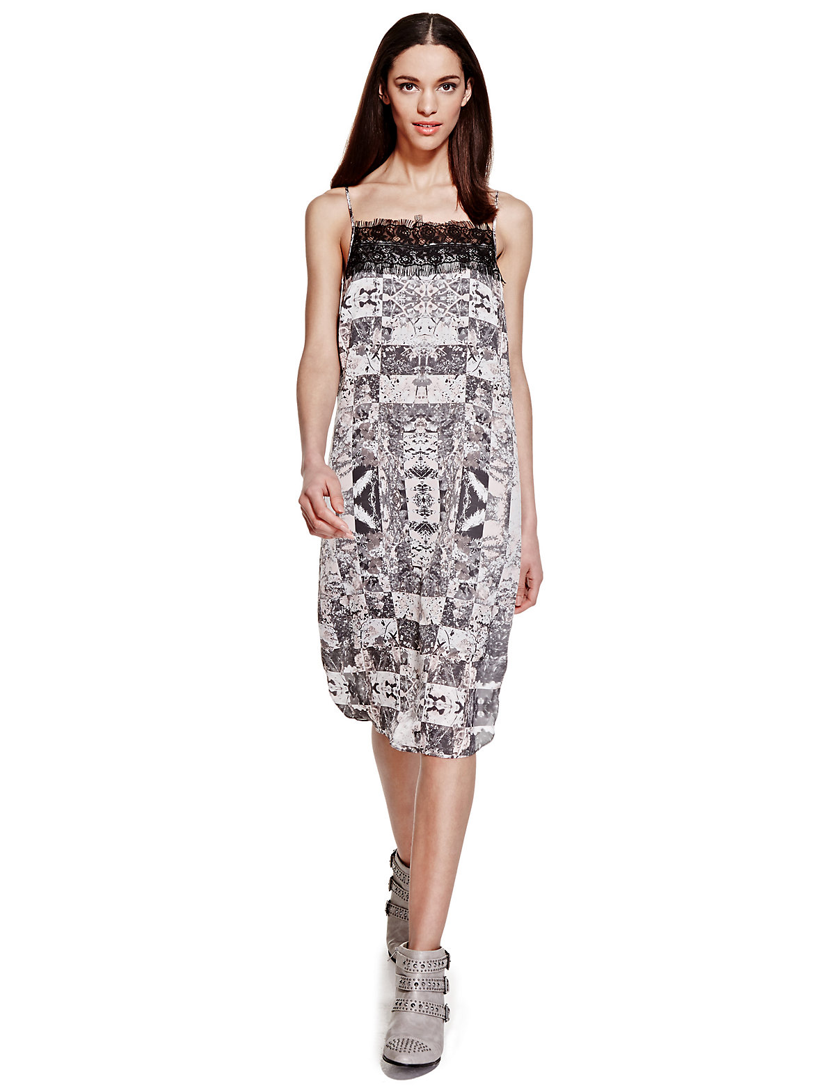 Limited Edition Contrast Print Camisole Shift Dress