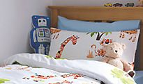 Kids' bedding in a kids' bedroom
