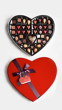 Large heart box of chocolates