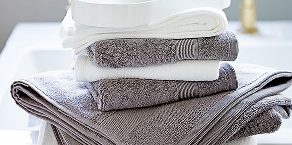 Three neutral towels
