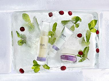 Image of Skyn Iceland skin care, pictured in a glacial setting
