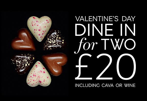 Valentine's Day Dine In for 2, £20