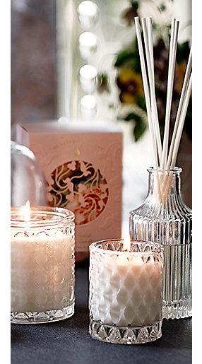Reed diffusers and scented candles