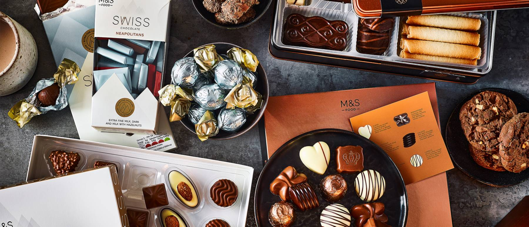 Selection of chocolate gifts