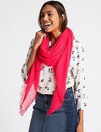 8762396d0 Pashminetta Scarf | M&S Collection | M&S