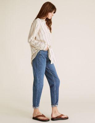 Roma Rise Straight Leg Jeans | Per Una | M&S