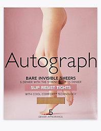 c35e6a7e7b529 5 Denier Open Toe Bare Invisible Sheer Tights | Autograph | M&S