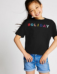 a01d730e702 Pure Cotton Holiday T-Shirt (3-16 Years)