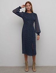 Marks /& Spencer T591500D M/&S Collection Pleated 3//4 Sleeve Bodycon Dress RRP /£39.5